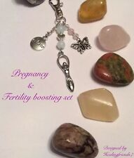 Fertility & Pregnancy Boosting Large Gemstone Healing Gift Set.Childbirth.Chakra