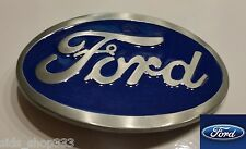 Ford Belt Buckle , Blue Enamel Fill Pewter Finish US Seller