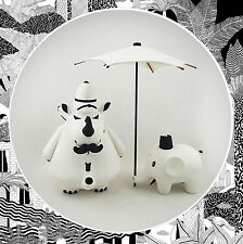 Frank Kozik- Arts Unknown 'William, Reginald & Henry' WHITE MONO Labbit Kidrobot