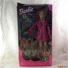 Barbie Scooby Doo Daphne in pink coat with Scooby Doo dog new in very worn box