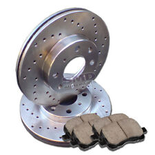 A0846 2003 2004 2005 2006 2007 PURSUIT SATURN ION Drilled Brake Rotors Pads
