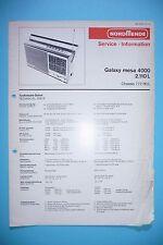 Service-manual-instrucciones para nordmende Galaxy mesa 4000 2.110 L, original
