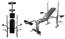 Weight Lifting Bench Folding & Adjustable Fitness Training Bench Incline & Flat