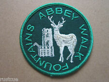 Fountains Abbey Walk Walking Hiking Woven Cloth Patch Badge