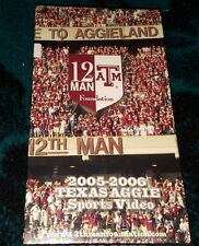 2005-2006 Texas Aggie Sports Video  (New Vhs)