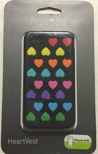 Agent18 HeartVest Case -Black/Multi for iPhone 4/4s WIPHVX/BM