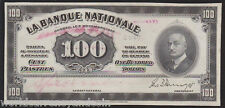 CANADA $100 1922 QUEBEC LA BANQUE NATIONALE CANADIAN *SPECIMEN* CURRENCY NOTE