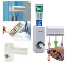 New Auto Automatic Toothbrush Holder Wall Mount Rack Toothpaste Dispenser Set