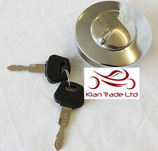 For Royal Enfield Bullet Lockable Fuel Tank Filler Cap Chromed+2 Key# 597128