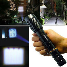 6000LM Police CREE XM-L T6  LED Zoomable 18650 Flashlight Torch Zoom Lamp Light
