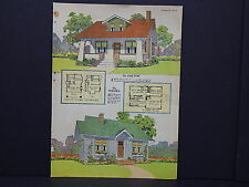 Houses, Homes, American Builder c.1927, One Double Sided Print #01