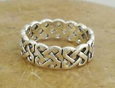 STUNNING STERLING SILVER CELTIC KNOT BAND ring size 6  style# r0234