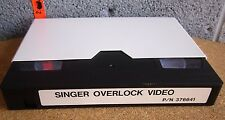 SINGER Serger Overlock Video sewing machine instructional 376641 VHS