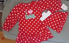 NEW CARTERS I Love Santa BABY GIRLS NIGHTGOWN + MATCHING DOLL GOWN Christmas 2T