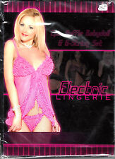 ELECTRIC LINGERIE STYLE #Y2162P 2PC RUFFLE BABYDOLL & G STRING SET