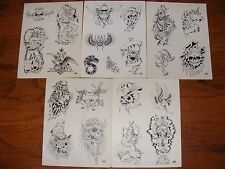 Tattoo Flash -  Set E- 10 Sheets of Quality Money Making Designs-$$$