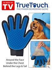 True Touch Deshedding Brush Glove Pet Dog Gentle Efficient Massage Grooming New