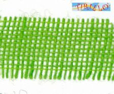 MERCERIA - 3 metri di nastro di juta altezza 4 centimetri - Verde chiaro