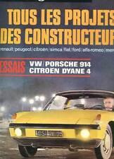 REVUE L'AUTO-JOURNAL N°3. 12 FEVRIER 1970. TOUS LES PROJETS DES CONSTRUCTEURS.