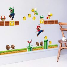Super Mario 3D Kids Nursery Removable Wall Decals Vinyl Stickers Art Home Decor