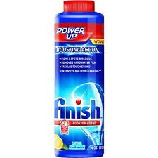 Finish Power-Up Booster Dishwasher Detergent Magic Hard Water Additive Glass