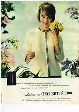 PUBLICITE ADVERTISING  1961   CHAT BOTTE  laines