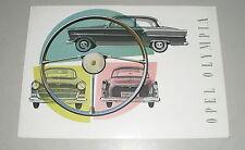 Prospekt / Brochure Opel Olympia Rekord 1956 / 1957