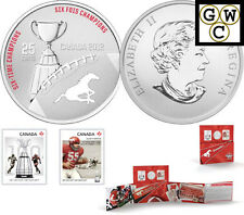 2012 'Calgary Stampeders' CFL Colorized 25-Cent Coin and Stamp Set (13047)