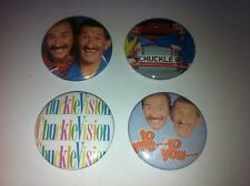 4 Chuckle Brothers Chucklevision button badges 25mm cult retro 80s 90s kids TV
