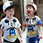 Children Kids Boys Girls Casual Short Sleeve Mickey Mouse Tee Tops T-Shirt 2-7Y