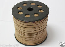 10yd Wholesale Price coffee 3mm Suede Leather String Jewelry Making Thread Cord