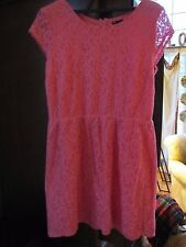 Gap Women's Size 14 Pink Dress Peekaboo Lace Lined