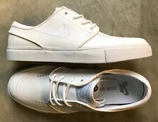 Nike Zoom Stefan Janoski Leather SB White Wolf Grey size 10 (# 616490-110)