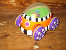 POP ALONG FRICTION FUN CAR TYPE BALLS BOUNCE UP AND DOWN INSIDE A DOME GOOD HAND
