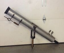 "Antique Vintage Large Brass/Aluminum Astronomical 5"" Refractor Telescope w/Mount"