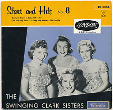 "7"" EP- The Swinging Clark Sisters - Stars And Hits No. 8 - London RE 3038 - mint"