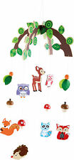 Baby Wooden forest animals Mobile bedroom Nursery Decoration - great gift