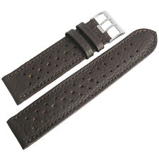 21mm Fluco Brown Racing Rallye Rally Tropic German Made Leather Watch Band Strap
