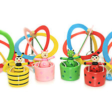 Hot Air Balloon Shape Hanging Wooden Toy for Baby Stroller Cot Room Decoration