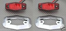 2x LED Arrière Rouge Cadre Chromé 12V feux de position Bus Camion Camping car