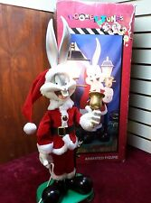 """Christmas Motionette Animated Looney Tunes BUGS BUNNY Lighted RARE 25"""""""