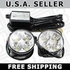 6W High Power LED DRL Light Bar - Xenon White - 70mm - Hella Style Round Shape