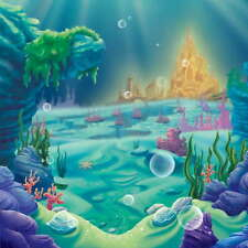 8x8FT Little Mermaid Under Sea Castle Photo Studio Background Backdrop Vinyl