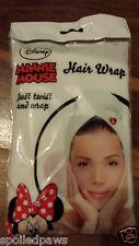 Disney Minnie Mouse Microfibre Hair Wrap-White With Cute Design & Button