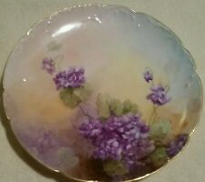 Small Plate, Haviland Limoges France, hand painted, artist signed,  1902.