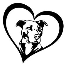 2 Aufkleber love Pittbull  Heart Herz Dog Auto Sticker Decal 12 cm Tuning JDM
