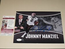 Johnny Manziel #2 signed Texas A&M Aggies 8x10 photo JSA Cleveland Browns QB