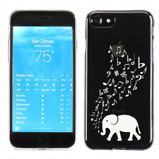 Slim-Fit Flexible TPU Phone Case for Apple iPhone 7 - Elephant Music / White