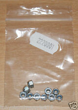 Tamiya 2220001/12220001 3mm Lock Nuts (10 Pcs.), NIP