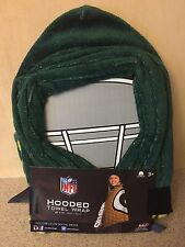"""New - NFL Green Bay Packers Kids Hooded Towel Wrap New 23"""" X 51"""" NFL"""